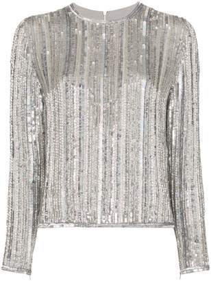 f56c93b3150c8 Long Sleeve Sequin Top - ShopStyle