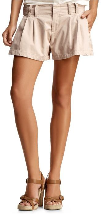 Alexander Wang khaki pleated shorts
