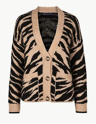 Marks and Spencer Animal Print Cardigan