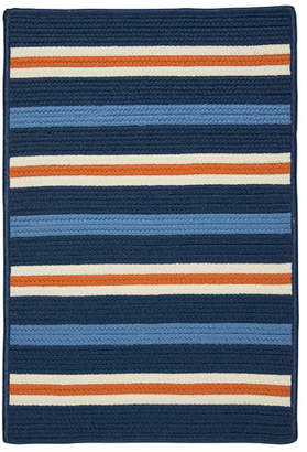 Colonial Mills Painter Stripe Set Sail Blue Indoor/Outdoor Area Rug Rug