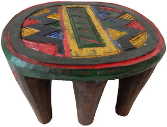 One Kings Lane Vintage African Nupe Low Milk Stool
