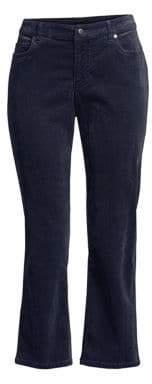 Eileen Fisher Corduroy Crop Flare Jeans