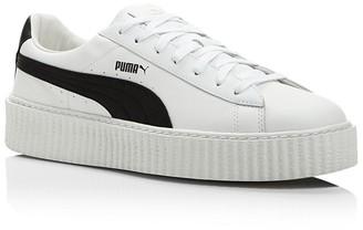 FENTY Puma x Rihanna Men's White Leather Creeper Sneakers $150 thestylecure.com