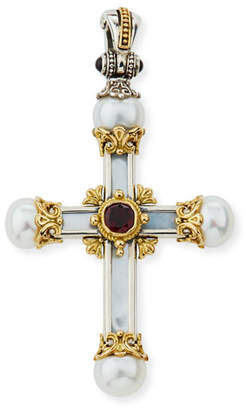 Konstantino Hestia Mother-of-Pearl Cross Pendant