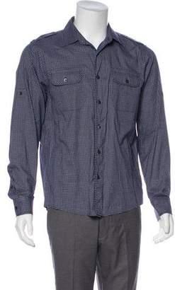Michael Kors Woven Plaid Shirt