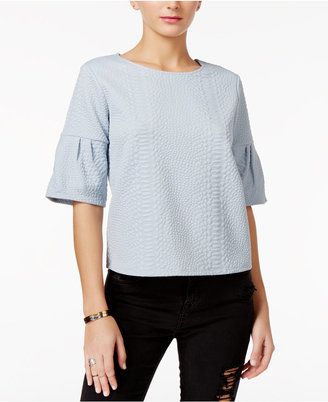 GUESS Ane Jacquard Top $59 thestylecure.com