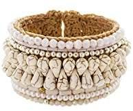 Panacea Womens Howlite Rope Cuff Bracelet