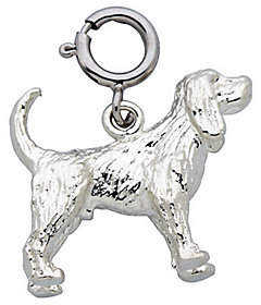 Dazzlers Sterling Cocker Spaniel Dog Charm