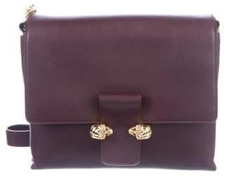 Alexander McQueen Twin Skull Leather Shoulder Bag gold Twin Skull Leather Shoulder Bag
