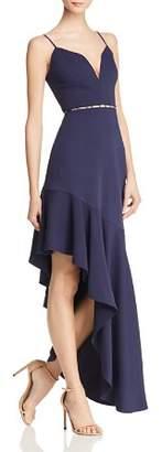 BCBGMAXAZRIA Asymmetric Cutout Dress