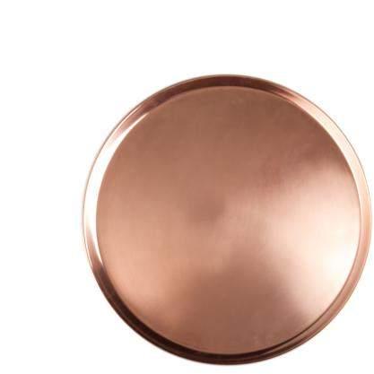 Jansen +co Tablett rund, kupferfarben, mittel
