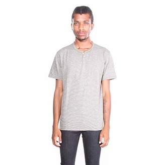 Lucky Brand Men's Casual Short Sleeve Stripe Notch Neck TEE