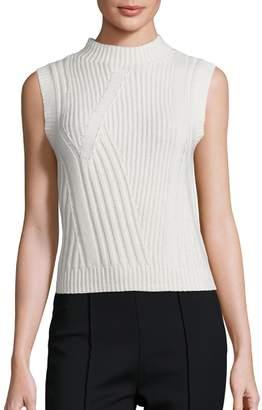 Diane von Furstenberg Women's Ediva Wool & Cashmere Rib-Knit Sweater