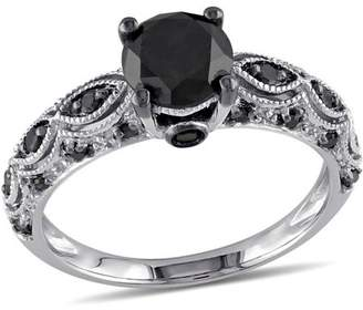 Black Diamond Asteria 1-1/4 Carat T.W. 10kt White Gold Engagement Ring