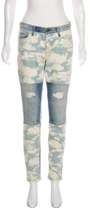 Current/Elliott The Seamed Ankle Skinny Mid-Rise Jeans