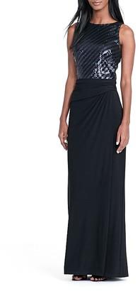 Lauren Ralph Lauren Sequin-Bodice Gown $195 thestylecure.com