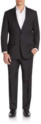 Versace Regular-Fit Tonal Mini Check Wool Suit