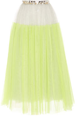 DELPOZO Long silk tulle skirt