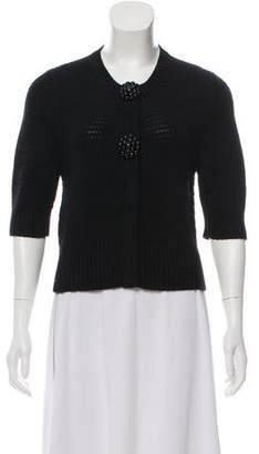 Fendi Scoop-Neck Knit Cardigan