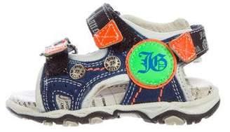 John Galliano Boys' Suede Multistrap Sandals