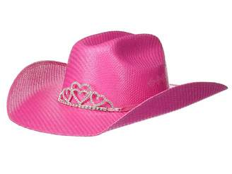 M&F Western Twister Straw Cowgirl Hat w/ Tiara Crown (Little Kids/Big Kids)