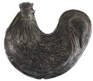 Foreside Home & Garden Iron Rooster Trinket Accent Tray