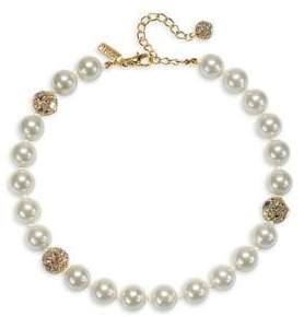 Badgley Mischka Faux-Pearl Necklace