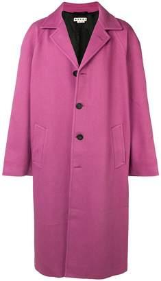 Marni long single-breasted coat