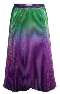 Clara Ombre Metallic Pleated Skirt