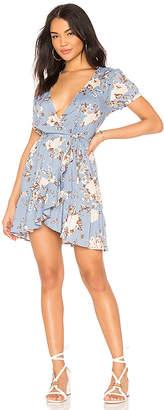 AUGUSTE Frill Wrap Mini Dress