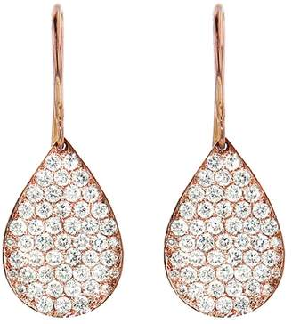 Irene Neuwirth Pavé Diamond Teardrop Earrings - Rose Gold