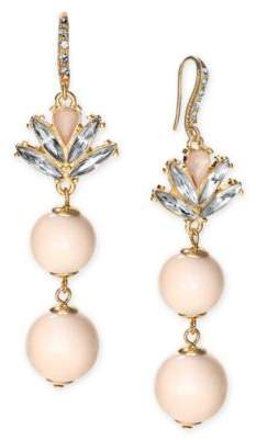 INC International Concepts I.N.C. Gold-Tone Multi-Stone & Imitation Pearl Drop Earrings, Created for Macy's
