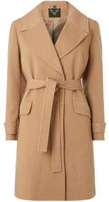 Dorothy Perkins Womens **DP Curve Camel Wrap Belted Coat