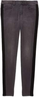 Vince Camuto Velvet Tuxedo-stripe Jeans