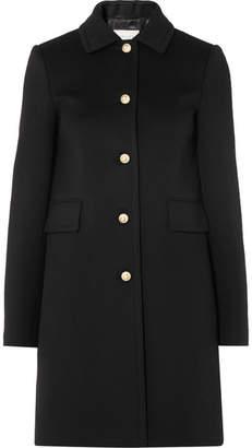 eefa06fbb1e87 Gucci Faux Pearl-embellished Wool Coat - Black