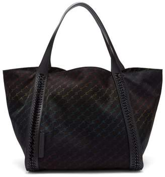 Stella McCartney Falabella Rainbow Logo Print Nylon Tote - Womens - Black Multi