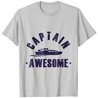 Pontoon T-Shirt Captain Awesome Funny Boat Sailing Party