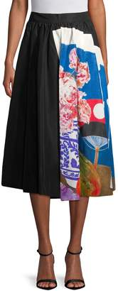 Prada Women's Printed Silk Maxi Skirt