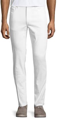 Z Zegna Five-Pocket Solid Stretch-Cotton Denim Jeans