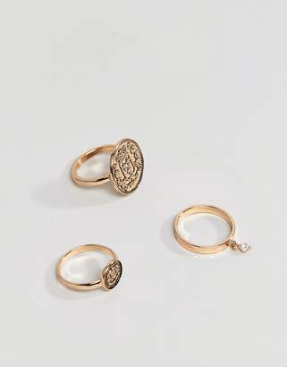 Aldo Gold Coin Stacking Rings