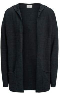 Jack and Jones Hooded Cotton-Blend Cardigan