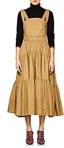 Proenza Schouler Women's Cotton Poplin Tiered Dress - Beige, Khaki