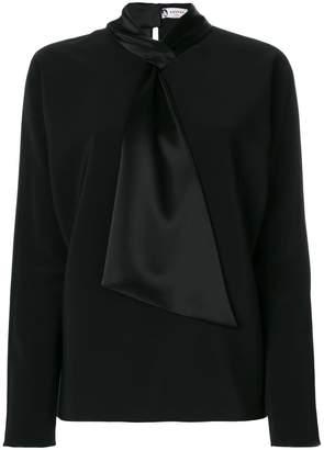 Lanvin knot tie blouse