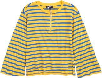 Freshman Zip Front Stripe Top