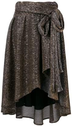 Faith Connexion asymmetric lurex skirt