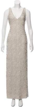 Halston Sequin Maxi Dress