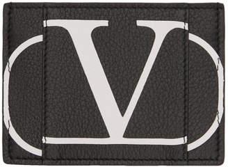 Valentino Black Garavani VLogo Card Holder