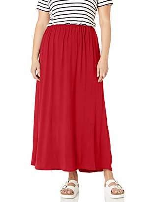 Star Vixen Women's Plus-Size Modest Soft DTY Knit Pull-On Maxiskirt