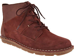 Clarks Leather & Suede Lace-up Ankle Boots -Tamitha Key
