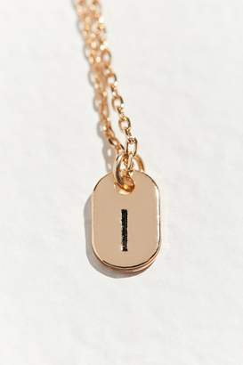 Urban Outfitters Initial Mini Tag Necklace